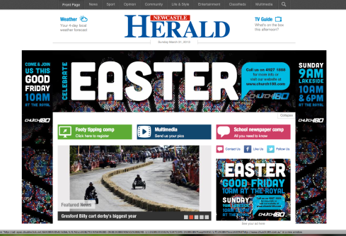 GBCD Newcastle Herald 2013-03-31 1